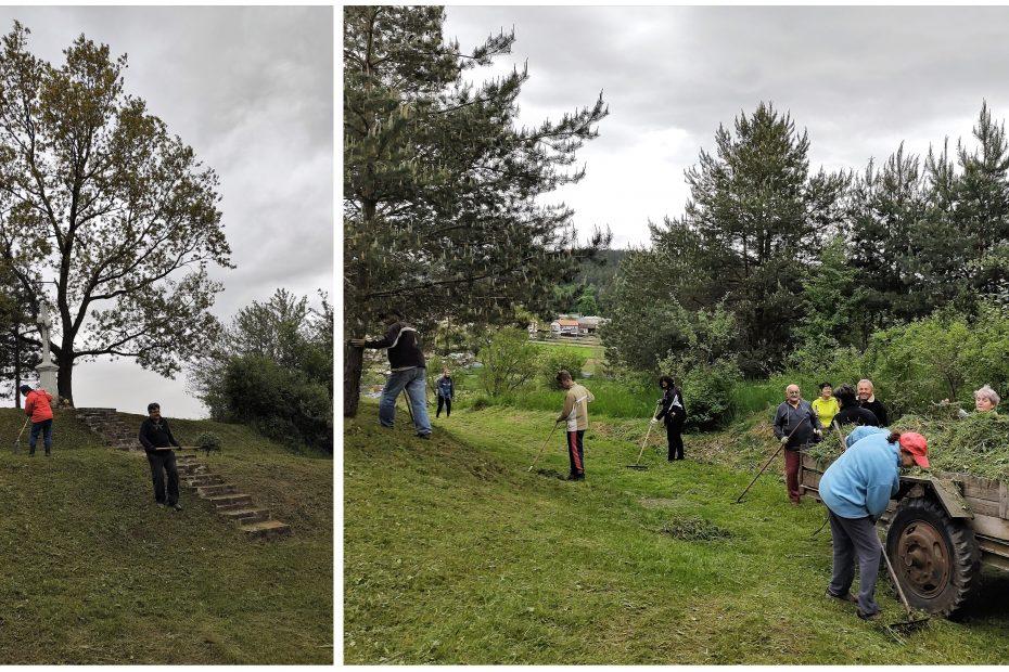 Brigáda - kosenie trávy na krížovej ceste 29.5.2021